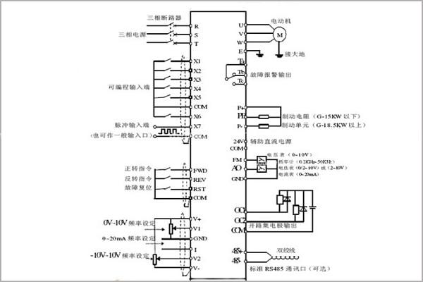 变频器工作原理以及变频器接线图_新闻动态_三菱plc