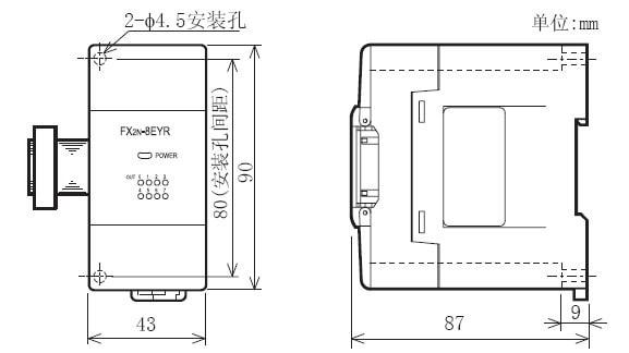 FX2N-8EX-ES-UL外形尺寸