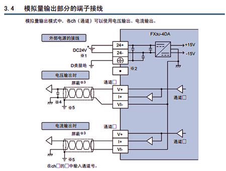 三菱plc输出模块fx3u-4da替代fx2n-4da的注意事项